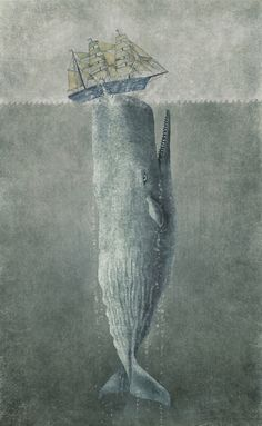 Revenge of The Whale  Stretched Canvas