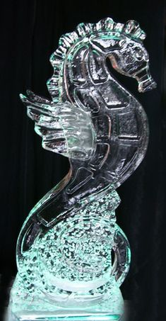 seahorse ice carving