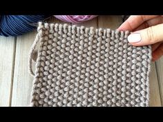Knitting Videos, Baby Knitting Patterns, Loom Knitting, Knitting Stitches, Crochet Square Patterns, Crochet Motif, Knit Crochet, Diy Bracelets Patterns, Weaving Patterns