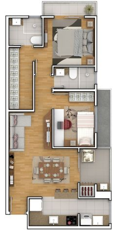 apartment floor plans To see more Visit House Floor Design, Modern House Floor Plans, Sims House Plans, House Layout Plans, Small House Plans, House Layouts, Home Building Design, Home Design Plans, House Construction Plan