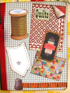 Retro Sewing Quilt Journal Notebook by SewMaryjane on Etsy, $18.00