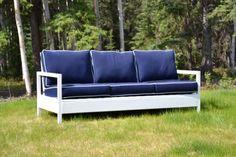 Simple White Outdoor Sofa