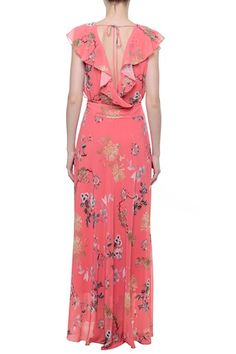 40 And Fabulous, Batik Dress, Floral Chiffon, Fashion News, Fashion Forward, Wrap Dress, Fashion Dresses, Fashion Looks, Two Piece Skirt Set