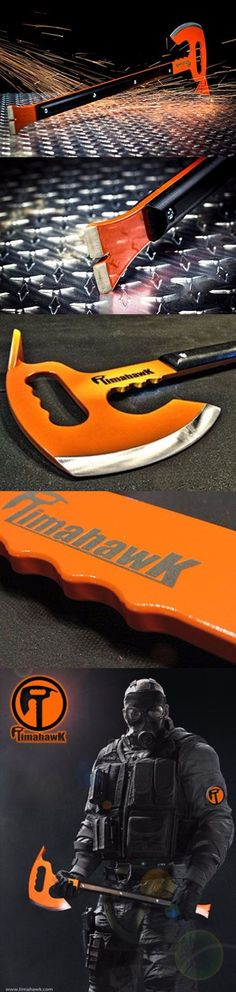 Timahawk Ultimate Survival Multi-Tool Timahawk Axe USA Question: Is it ideal for a zombie apocalypse ? Answer: The Timahwk will become the world's most recognized Zombie Killer. Survival Weapons, Survival Tools, Camping Survival, Outdoor Survival, Survival Prepping, Survival Gadgets, Zombie Weapons, Tactical Knives, Tactical Gear