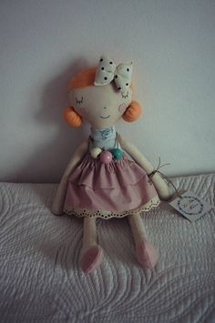 Fabric handmade dollRag doll Handmade Cloth doll Fabric