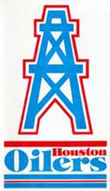 The original Houston Oilers helmet used from 1960-65 was blue with a white stripe down the middle. Description from prod.www.titans.clubs.nfl.com. I searched for this on bing.com/images Houston Nfl, Houston Oilers, Football Is Life, Nfl Football, Sports Team Logos, Sports Teams, American Football League, Sports Wreaths, Nfl Logo