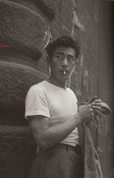 Toshiro Mifune,1957.  A complicated man.
