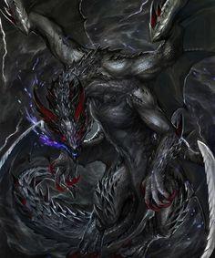 Fantasy Monster, Monster Art, Fantasy Dragon, Fantasy Warrior, Mythical Creatures Art, Fantasy Creatures, Dark Fantasy Art, Fantasy Artwork, Tiamat Dragon