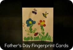 Father's Day Fingerpaint Gifts from Kids