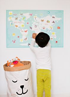 Interactive World Map for Kid | Children Inspire Design