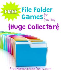 Free File Folder Games for Homeschool Learning and Fun! {HUGE Collection} – Kelly Free File Folder Games for Homeschool Learning and Fun! {HUGE Collection} Free File Folder Games for Homeschool Learning and Fun! File Folder Games, File Folder Activities, File Folders, File Folder Organization, Game Organization, Teaching Tools, Teacher Resources, Folder Games For Toddlers, Classroom Games
