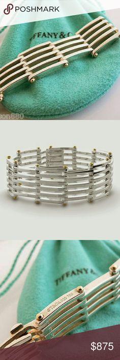 80012239b Selling this Tiffany & Co. SS/18K Heavy Gate Link Bracelet on Poshmark