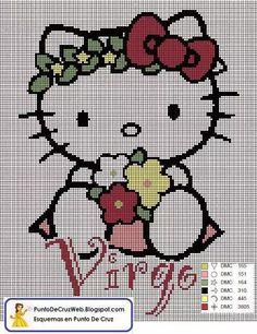 Horscopo Escorpio De Hello Kitty  cross stich  Pinterest