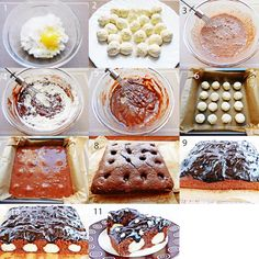 Schokokuchen mit Quarkkugeln  http://meinekochidee.de/die-besten-kochideen-der-welt?p=5742110866&s=ad099