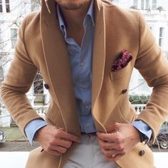 LOUIS-NICOLAS DARBON - A new favourite combo Coat from Suitsupply Shirt from Uniqlo White jeans by GAP Pocket square from Portobello Market