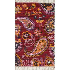 Shop for Flatweave Maria Pink/ Gold Paisley Rug (3'6 x 5'6). Get free shipping at Overstock.com - Your Online Home Decor Outlet Store! Get 5% in rewards with Club O!