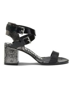 Take a look at this Pewter & Black Snakeskin Carmanita Sandal by Kelsi Dagger on #zulily today!