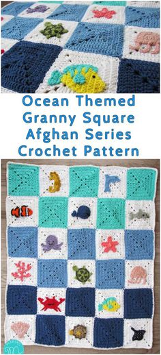 Ocean Granny Afghan - Themed Square Series - Free Crochet Pattern