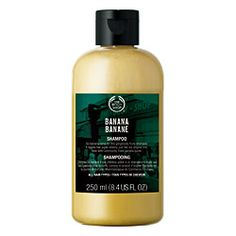 Banana Shampoo  Best if you want to: Gently cleanse and nourish your hair with a  shampoo that smells good enough to eat and will leave your hair feeling clean, soft and silky.  Best for: all skin types