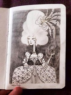 SKETCHBOOK: The French Queen A6, pencil on recycled paper
