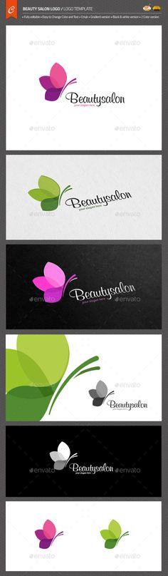 Beauty Salon Logo — AI Illustrator #professional logo template #eco-friendly makeup • Available here → https://graphicriver.net/item/beauty-salon-logo/11166774?ref=pxcr