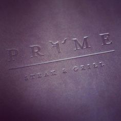 Prime Steak & Grill, Embossed Vivella Menu Cover