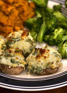 Spinach and Artichoke Mushrooms