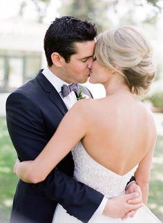 Elegant wedding hairstyle idea; photo: Lavender and Twine