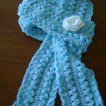 belos cachecol de crochê fácil