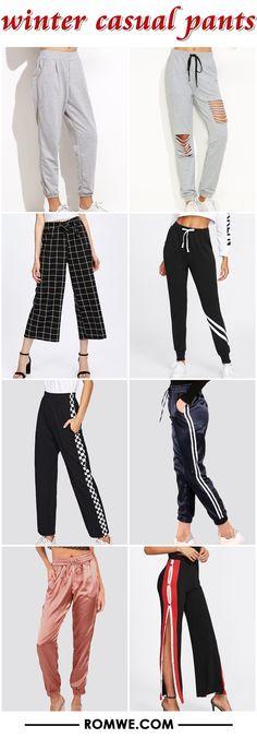 winter casual pants 2017 - romwe.com