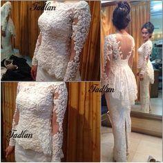 #kebayaakad #kebaya #pengantin #kebayafadlan #lace #dress #fitting. Taken by fadlan_indonesia on Thursday 13. February 2014 Kebaya Peplum, Kebaya Lace, Batik Kebaya, Kebaya Wedding, Wedding Dresses, Javanese Wedding, Hijab Dress Party, Model Kebaya, Indian Gowns