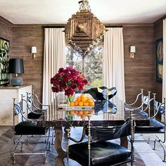 ellen pompeo's dining room from architectural digest designer - martyn lawrence bullard