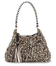 #GiorgioArmani braided silk bag