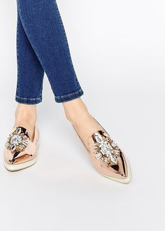 Embellished Flat Shoes - Weekly Weakness on Poor Little It Girl