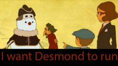 """Lol, look at Desmond's face. He's like, """"I'm screwed!"""""""