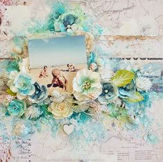 Stacey Young created a watercolor style backdrop and highlighted the flowers perfectly with just a touch of color to match! #winter2017 #primaflowers #primamarketing