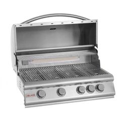 Blaze 32 Inch Built-In Natural Gas Grill With Rear Infrared Burner Outdoor Kitchen Bars, Outdoor Kitchen Design, Bbq Grill Island, Propane Gas Grill, Stainless Steel Grill, Compact Refrigerator, Built In Grill, Grill Design, Grilling