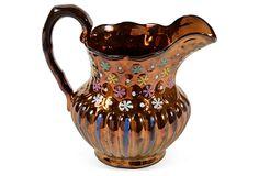 Lustreware Jug on OneKingsLane.com Antique Copper, Tea Set, Bristol, Luster, English, Antiques, Silver, Antiquities, Antique