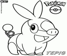 tepig coloring pages to print is the initial pokmon type fire from