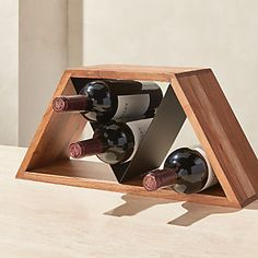 Easy Wine Storage Rack Anyone Can Make Wood Rack, Wood Wine Racks, Diy Wine Racks, Wine Rack Inspiration, Unique Wine Racks, Modern Wine Rack, Wine Rack Design, Wine Dispenser, Wine Rack Storage