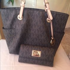 MK signature tote and matching wallet New without tags Michael Kors Bags Totes