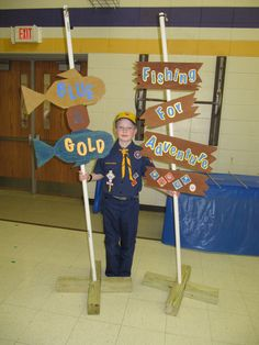 Cub Scouts Blue & Gold Banquet Fishing For Adventure theme 2012