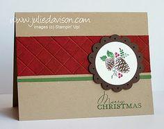 Faux Tile Merry Christmas Card