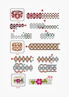 Anillos paso a paso - Mary N - Picasa Web Albums Beading Patterns Free, Beaded Jewelry Patterns, Beading Tutorials, Bracelet Patterns, Doily Patterns, Dress Patterns, Diy Beaded Rings, Diy Rings, Bead Weaving
