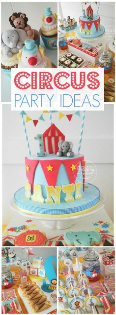Wow! Such a fun circus birthday party! See more party ideas at CatchMyParty.com!