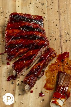 Costillas St. Louis en salsa Barbecue BBQ