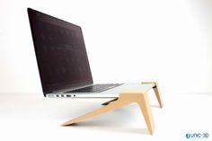 3D printed Laptop legs in wood