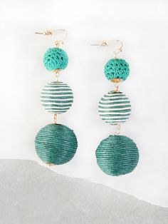 Shop Three Layer Thread Ball Earrings GREEN online. SheIn offers Three Layer Thread Ball Earrings GREEN & more to fit your fashionable needs.