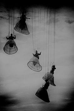 ☾ Midnight Dreams ☽ dreamy & dramatic black and white photography - Luigi Pirandello, Diana e la Tuda, 1926