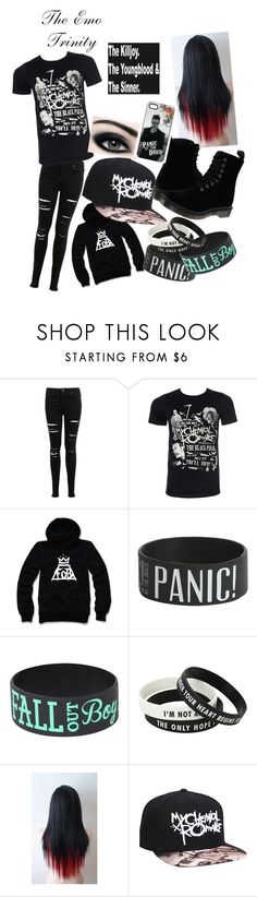 """""""The Emo Trinity"""" by calligaskarth ❤ liked on Polyvore featuring Miss Selfridge and Dr. Martens"""